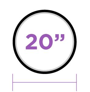 20 pulgadas
